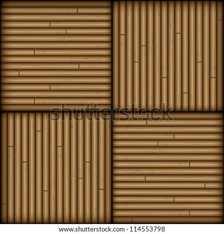 Bamboo seamless pattern for walls or floors - vector illustration - stock vector