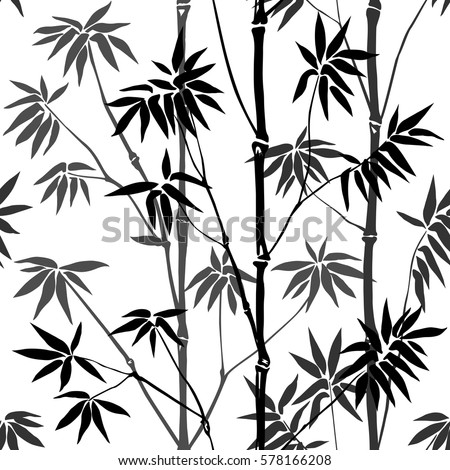 bamboo seamless pattern on