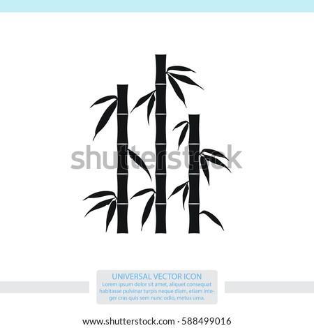 bamboo silhouettes vector icon