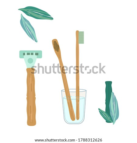 bamboo toothbrushes and razor
