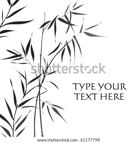 Bamboo (Traditional asian black and white style)