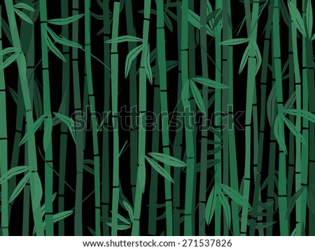 bamboo trees on black