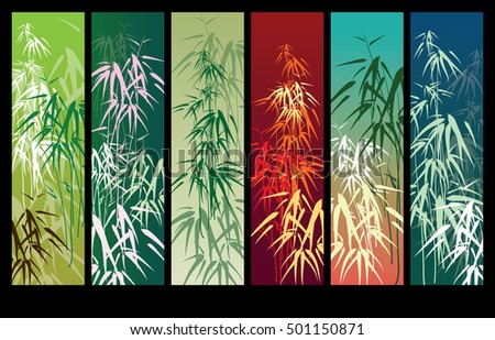 bamboo vector background banner