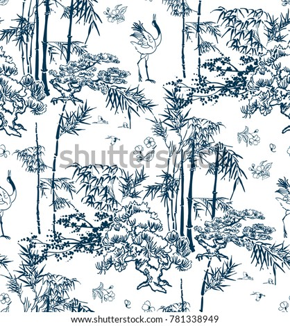 bamboo vector japanese pattern nature pine
