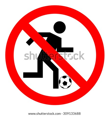 ban on playing football   no