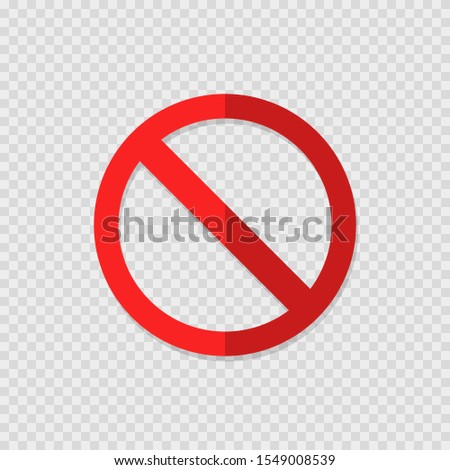ban sign on transparent background with shadow, flat Сток-фото ©