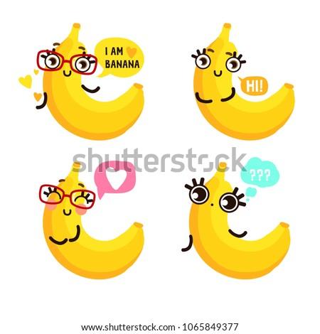 banana emoji set