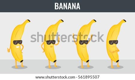 banana funny cartoon fruits