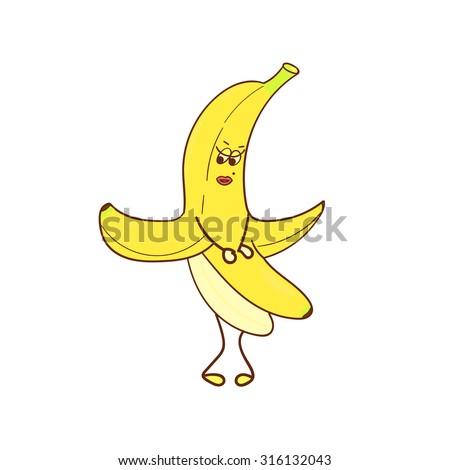 banana girl character funny