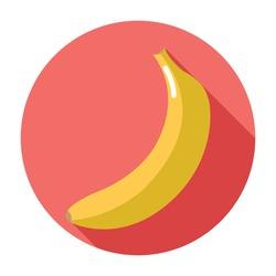 Banana icon in flat design