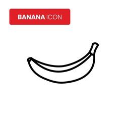 Banana icon vector on white background