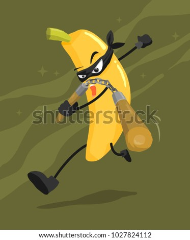 banana ninja cartoon