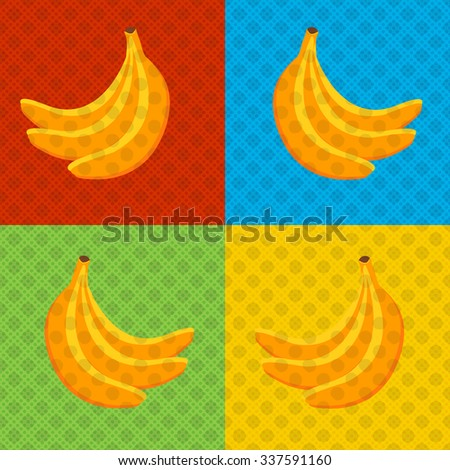 Bananas - Pop art style poster. Vector illustration design for partys, holidays and advertisement. EPS 10