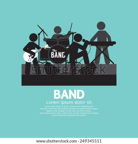 band of musician black symbol