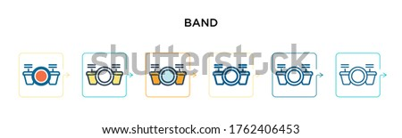 band vector icon in 6 different
