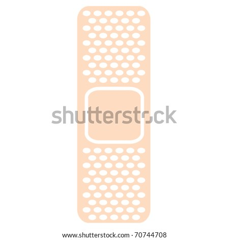 Bandage for medical & first aid kit or emergency box clip art in vector format.