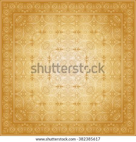 bandana with gold pattern