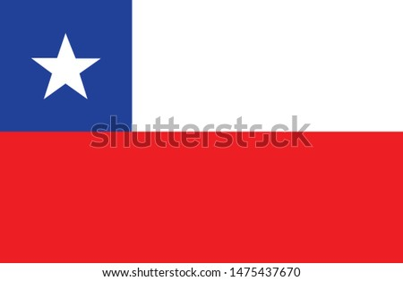 Bandeira do Chile (Chile flag in portuguese) vector illustration