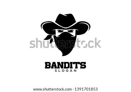 Bandit Cowboy with Scarf Mask illustration Photo stock ©