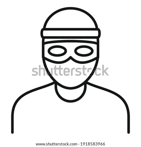 Bandit icon. Outline bandit vector icon for web design isolated on white background Photo stock ©