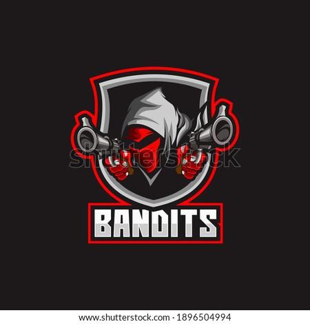 bandit mask gangster head logo Photo stock ©