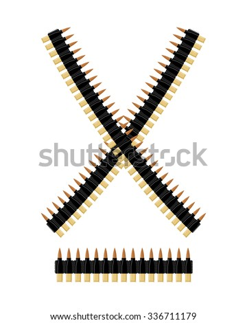 bandolier with bullets