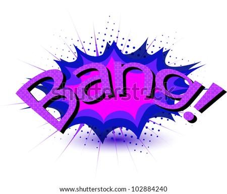bang - stock vector