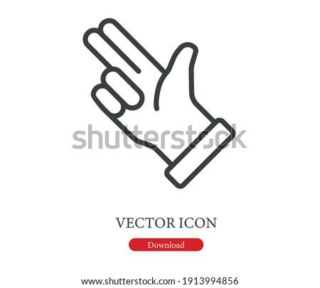 Bang bang icon vector. Linear style sign for mobile concept and web design. Bang bang symbol illustration. Pixel vector graphics - Vector