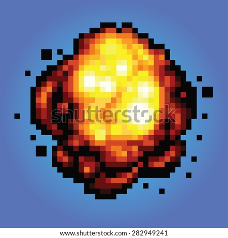 bang explosion pixel art game