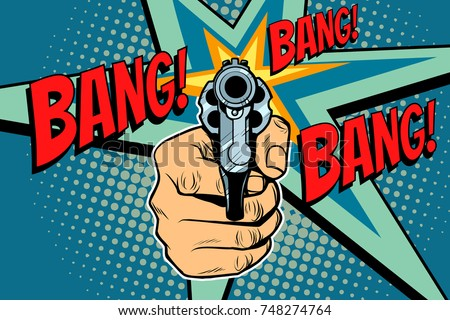 bang sound of a shot revolver