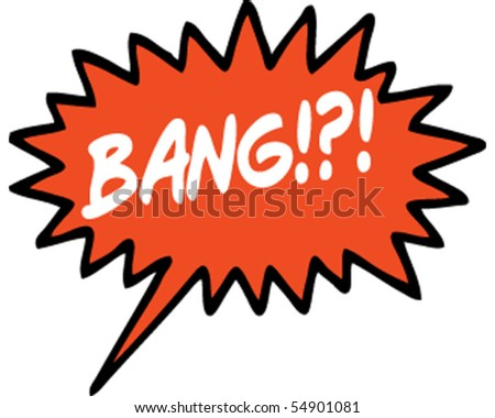 Bang Speech Bubble Red - stock vector