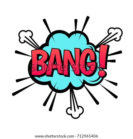 bang speech bubble vector