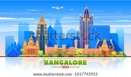 bangalore  india   skyline with