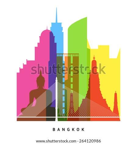 bangkok landmarks bright