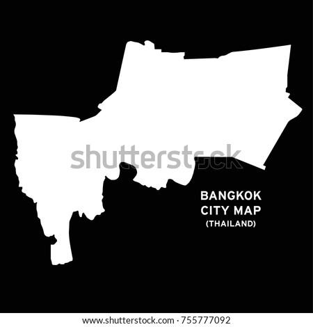 Bangkok, Thailand city map vector | EZ Canvas