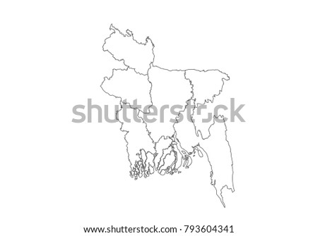 Free Bangladesh Map Vector Illustration - Download Free Vector Art ...