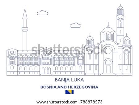 banja luka city skyline  bosnia