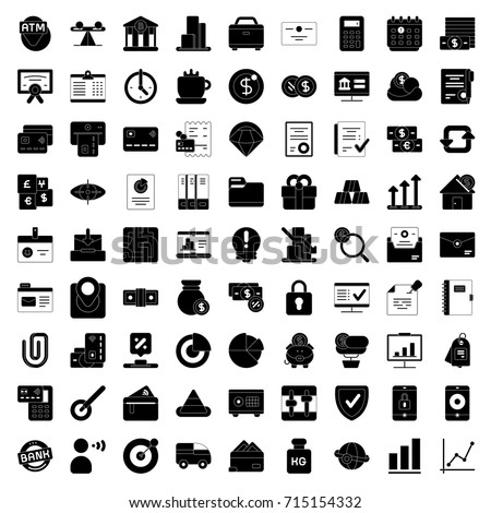 Bank and finance icons set