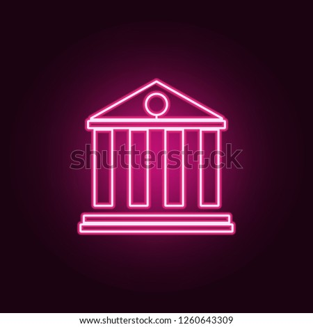 bank building icon. Elements of web in neon style icons. Simple icon for websites, web design, mobile app, info graphics