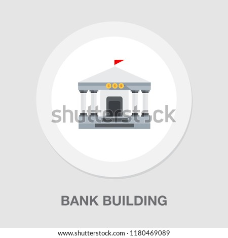 Bank building icon - government illustration - financial savings - investment icon