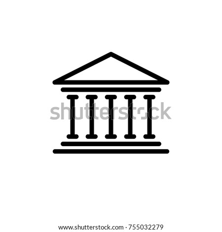 bank building icon vector