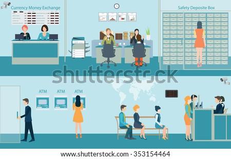 bank building interior counter