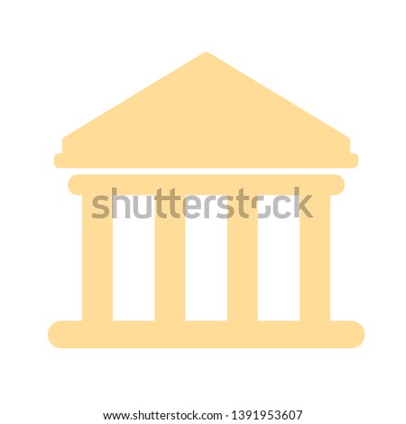 Bank building isolated on white background. Vector Bank illustration. Flat style Bank icon