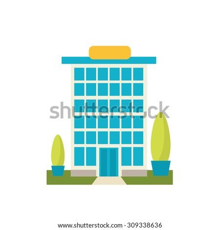bank building, vector illustration