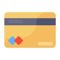Bank card icon, editable vector of credit card