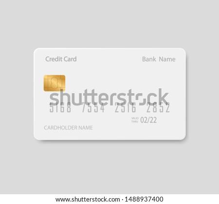Bank card mock up. Plastic credit card.