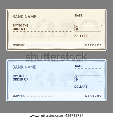 royalty free bank check template set blank form 435823327 stock