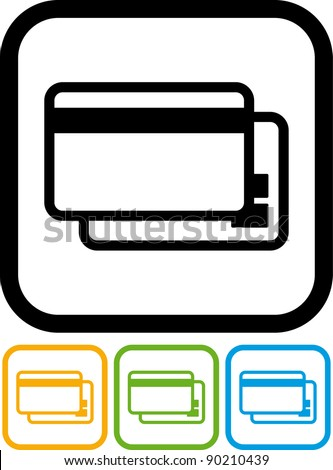 Bank credit cards - Vector icon isolated on white