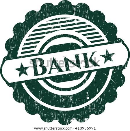 Bank grunge stamp