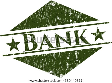 Bank grunge style stamp